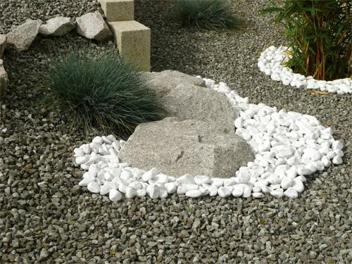 Sablo d co galet de marbre blanc for Deco avec des galets